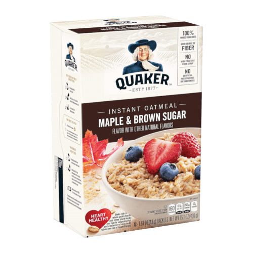 Quaker Instant Oats Maple and Brown Sugar